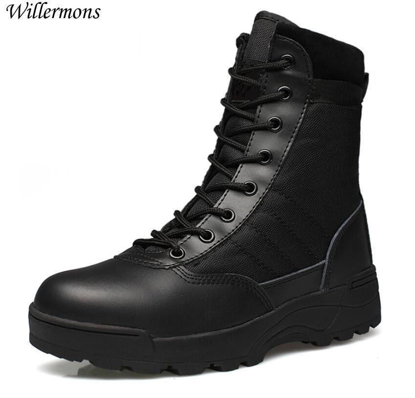 Bottes d'armée en plein air chaussures de bottes tactiques du désert militaire pour hommes bottes de Combat respirantes d'hiver Botas Tacticos Zapatos