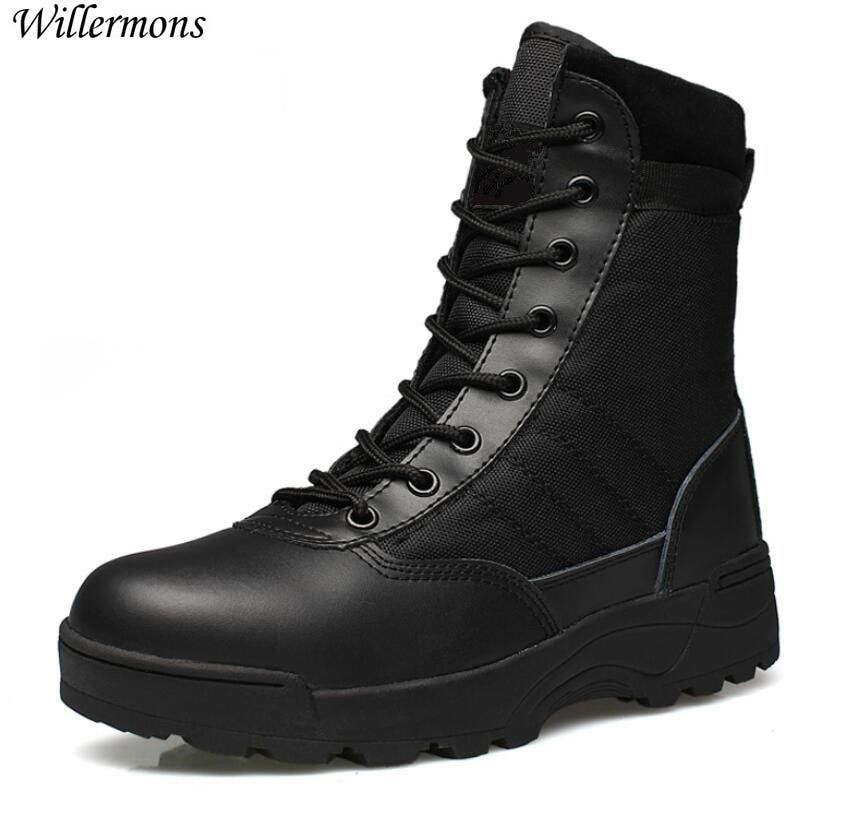 Outdoor <font><b>Army</b></font> Boots Men's Military Desert Tactical Boot Shoes Winter Breathable Combat Ankle Boots Botas Tacticos Zapatos
