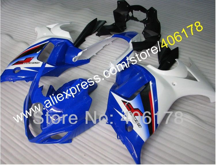 Hot Sales,Customized GSX650F 08 09 10 11 12 13 fairing For Suzuki GSX650F Fairing 2008-2013 Blue White Motorcycle Fairings