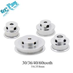 GT2 Timing Pulleys 30 36 40 60 Tooth 2GT Wheel Parts Bore 5mm 8mm Aluminium Gear Teeth Width 6mm 10mm 3D Printers Part KINGROON