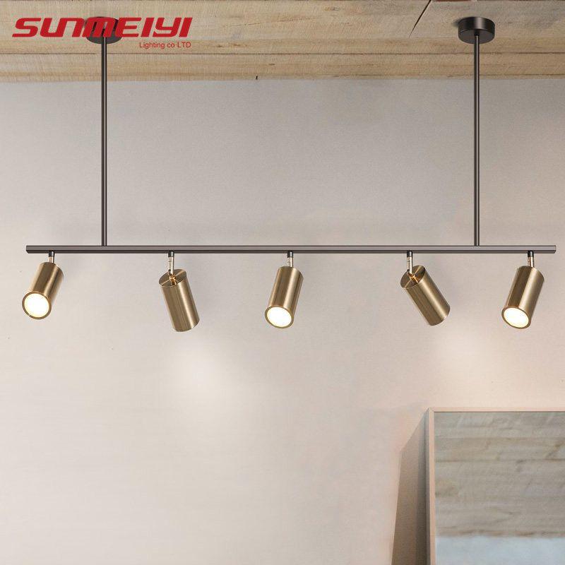 Nordic Moderne Gold LED Anhänger Lichter schlafzimmer esszimmer küche hanglampen voor eetkamer GU10 LED Lampe Edison Glühbirne