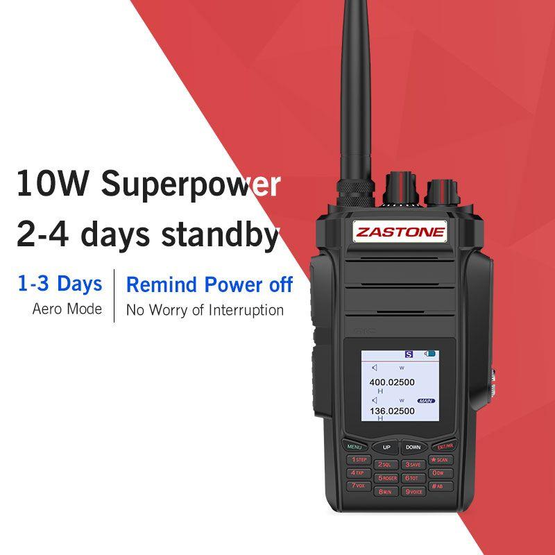 Zastone A19 10w two way radio walkie talkie 136-174/400-480mhz UHF VHF Ham Portable Handheld Two Way Radio 5-10km 2800mah