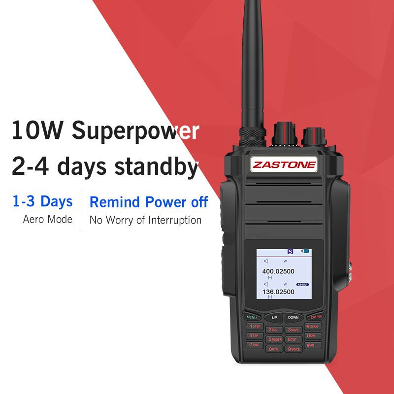 Zastone A19 10w two way radio walkie talkie 136-174/400-480mhz UHF VHF Ham Portable Handheld Two Way Radio 5-10km 2800mah