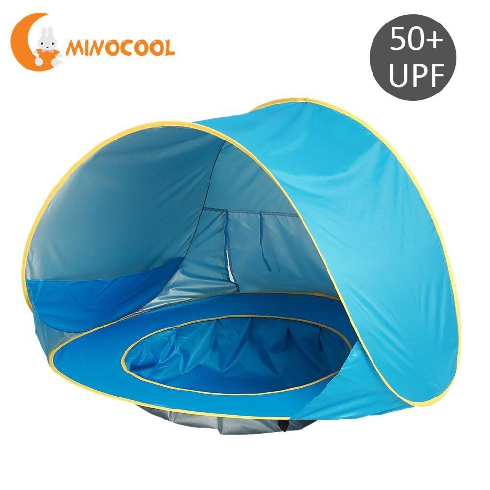 Children Waterproof Pop Up Awning <font><b>Tent</b></font> Baby Beach <font><b>Tent</b></font> UV-protecting Sunshelter with Pool Kids Outdoor Camping Sunshade Beach