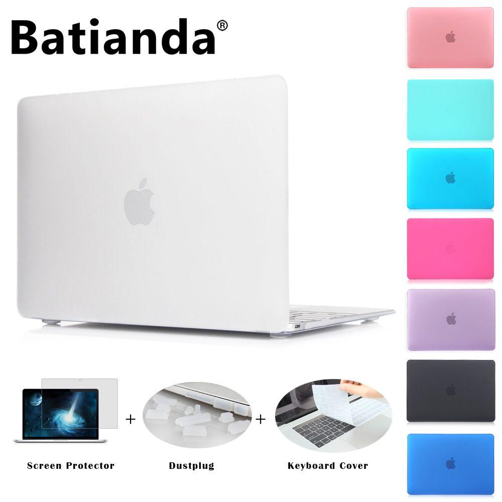 Mate Case New Air 11 Pro 13 13 15 Touch bar 2016 2017 Modelo Nuevo Retina 12 13 15 ''para macbook Cubierta Del Teclado + Protector de Pantalla