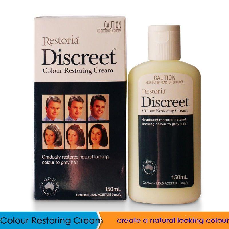 100% Australia made Restoria Discreet Colour Restoring Cream/ Lotion, Hair Care150ml, Reduce Grey Hair - Suitable for Men &Women