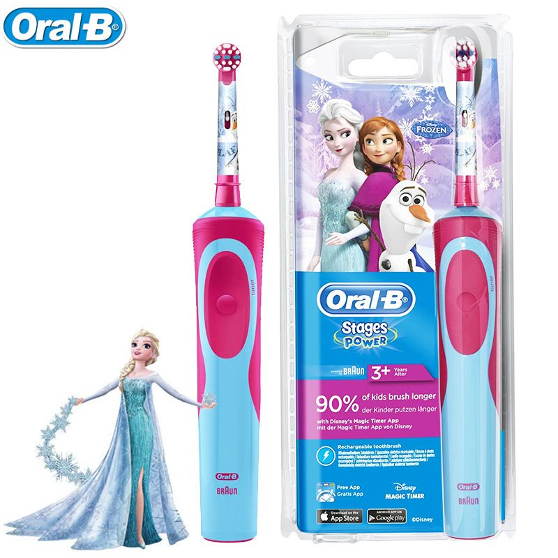 Oral B Rechargeable Toothbrush for Children Oral Hygiene Waterproof Children Electric Toothbrush for Kids Ages 3+