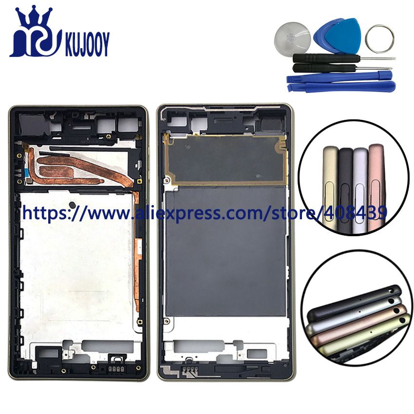 For Sony Xperia X F5121 F5122 Frame Bezel LCD Housing Chassis Mid Faceplate Replacement Repair Spare Parts With Tools