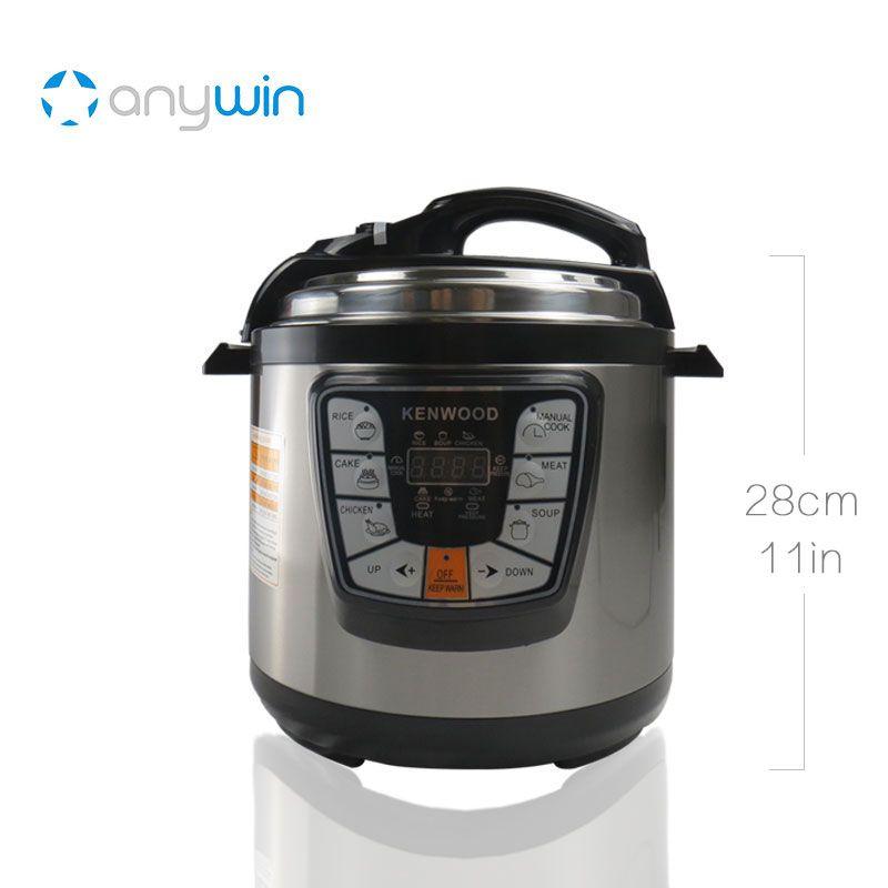 For Kenwood Pressure Cooker 6L Multivarka Electric Cooker 220V 1000W Smokehouse Teflon Coating Electric Rice Cooker Crockpots