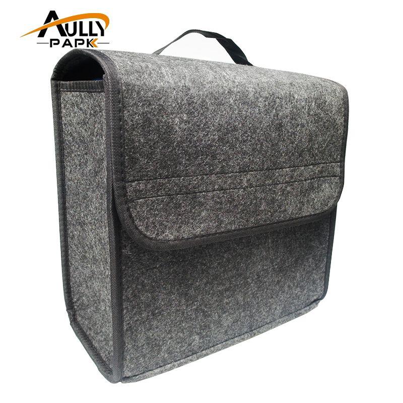 Car soft Felt Storage Box Trunk Bag Vehicle Tool Box Multi-use Tool Organizer Bag Carpet Folding Automobile Interior Accessories