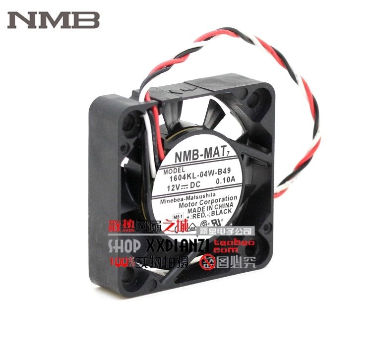 Brand NMB 1604KL-04W-B49 4010 40mm DC 12V 0.1A dual ball bearing axial cooling fan