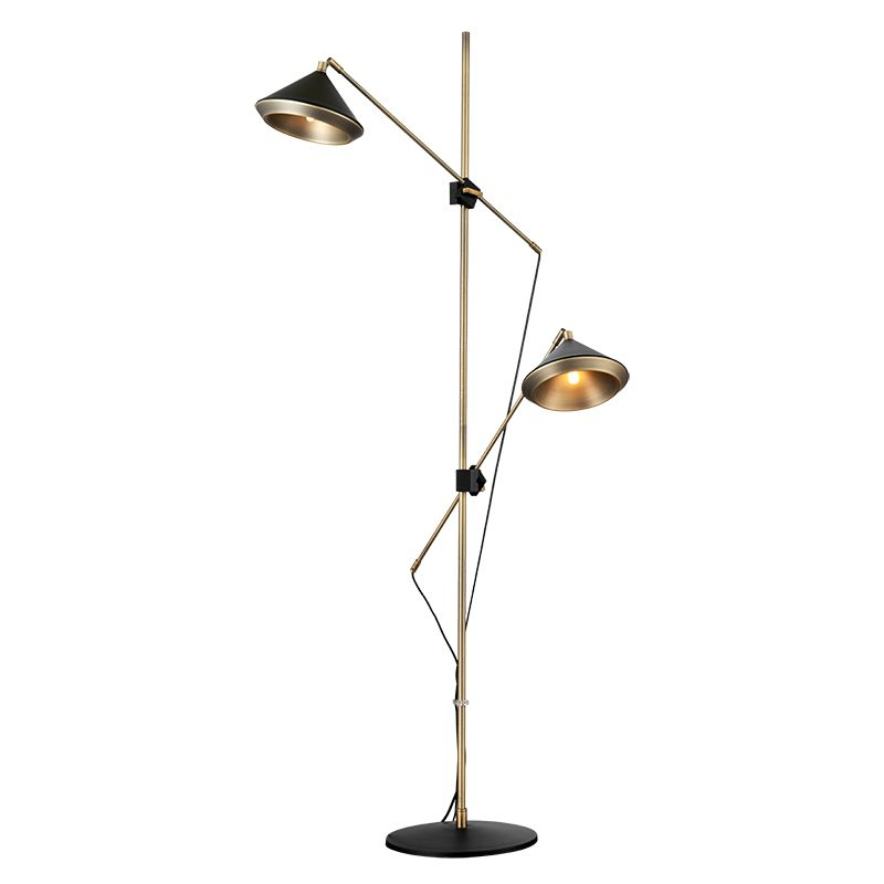 Post modern Design Floor Lamp Black White floor light hat 2 arm standing Light Elegant Branch Lampstanding table lamp fixture