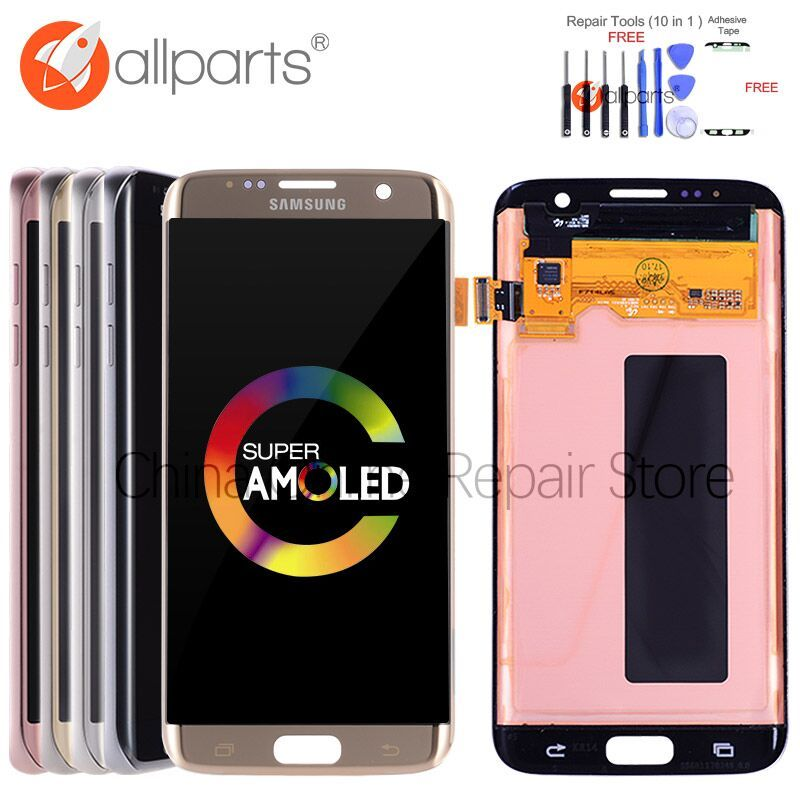 5.5 ORIGINAL AMOLED S7 edge Display For SAMSUNG Galaxy S7 Edge Screen Display Touch with <font><b>Frame</b></font> For SASMSUNG S7 Edge LCD G935F