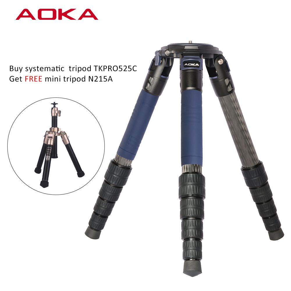 Universal professional heavy duty high load capacity 35kgs flexible systematic stativ carbon fiber big tripod