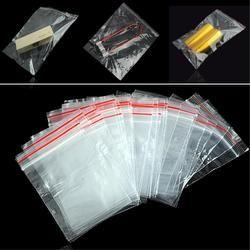 100 шт пластиковые сумки ювелирные изделия Ziplock молния Замок закрываемый полимерный чистый упаковочный мешок разного размера