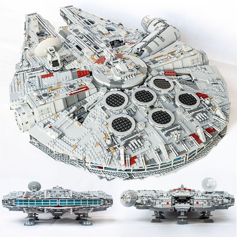 Lepin 05132 Millennium Falcon Lepin 05063 Wars on Star The UCS Death Stars Building Block Toys Compatible LegoINGlys 75159 75192