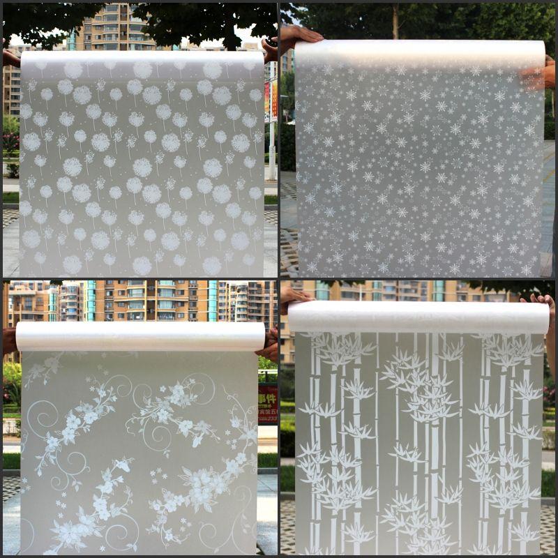 45 cm * 200 cm Long Film Auto-adhésif film de Fenêtre Givré Verre salle de Bain Porte Coulissante Fenêtre Autocollants Translucide mats #2-64