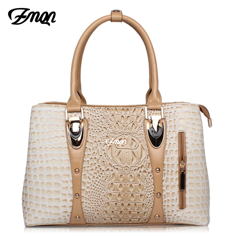 ZMQN Luxury Handbags Women Bags Designer Bags For Women 2018 Fashion Crocodile Leather Tote Bags Handbag Women Famous Brand A804