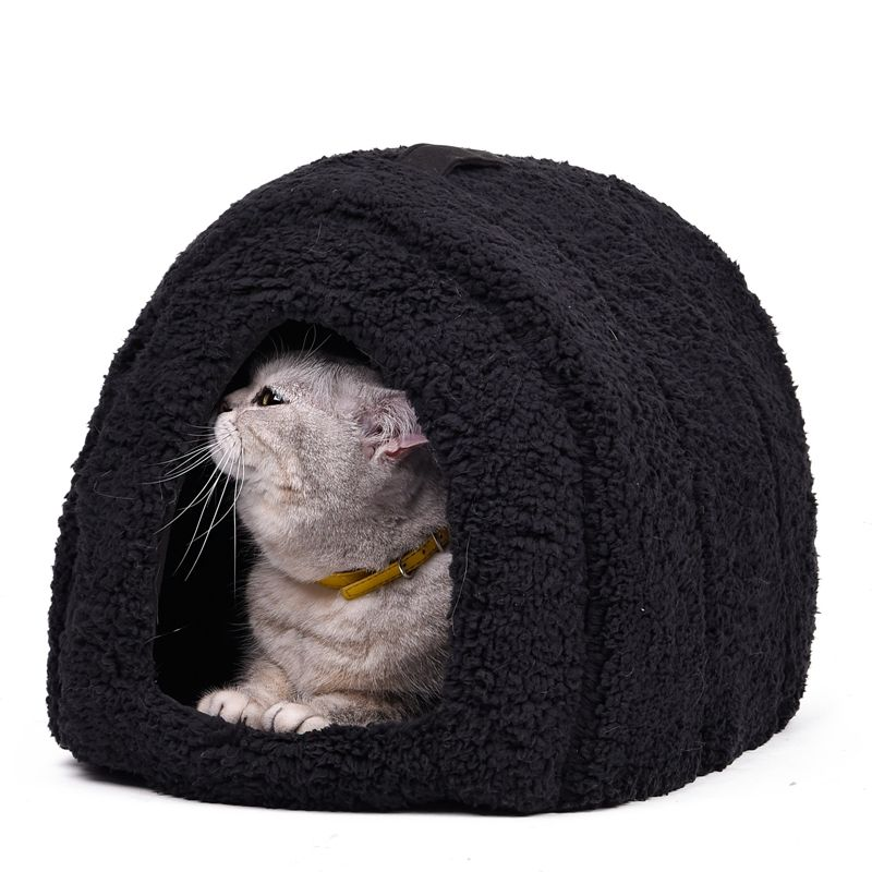 Lovely Pet <font><b>House</b></font> With a Bow Dog Kennel Puppy and Cat Beds Arched Shape Easy to Wash Easy to take Puppy Dog Cat Living 4 Colors