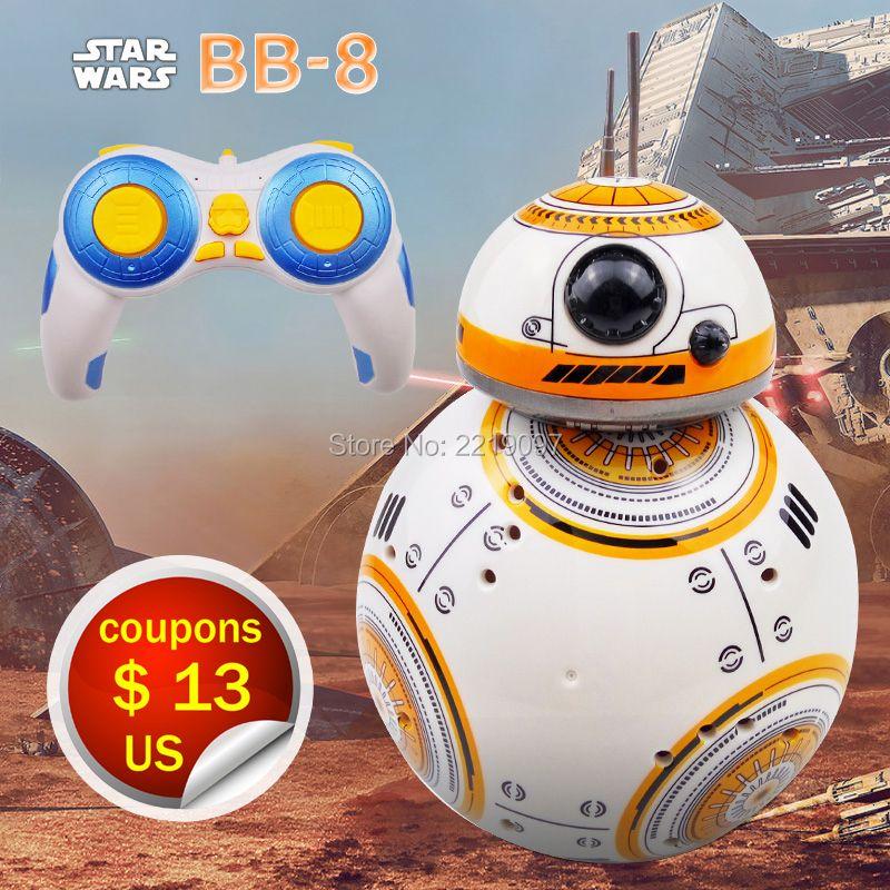 Expédition rapide Intelligent Star Wars Mise À Niveau RC BB8 Robot Avec son Action Figure Cadeau Jouets BB-8 Robot Balle 2.4G À Distance contrôle