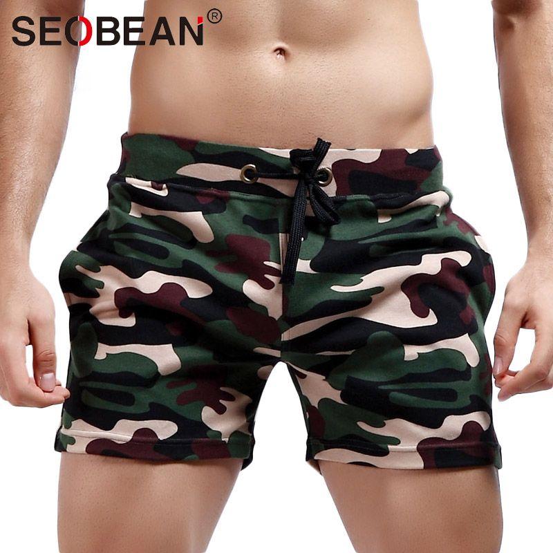 Seobean Brand Men Shorts Jogger Sweatpants Trunks Mens Activewear Gay camouflage Shorts Designed Cotton Shorts
