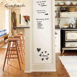 1 unid 45X100 cm Flexible suave pizarra mensaje notas de mesa impermeable etiqueta de la pared con 1 rotulador