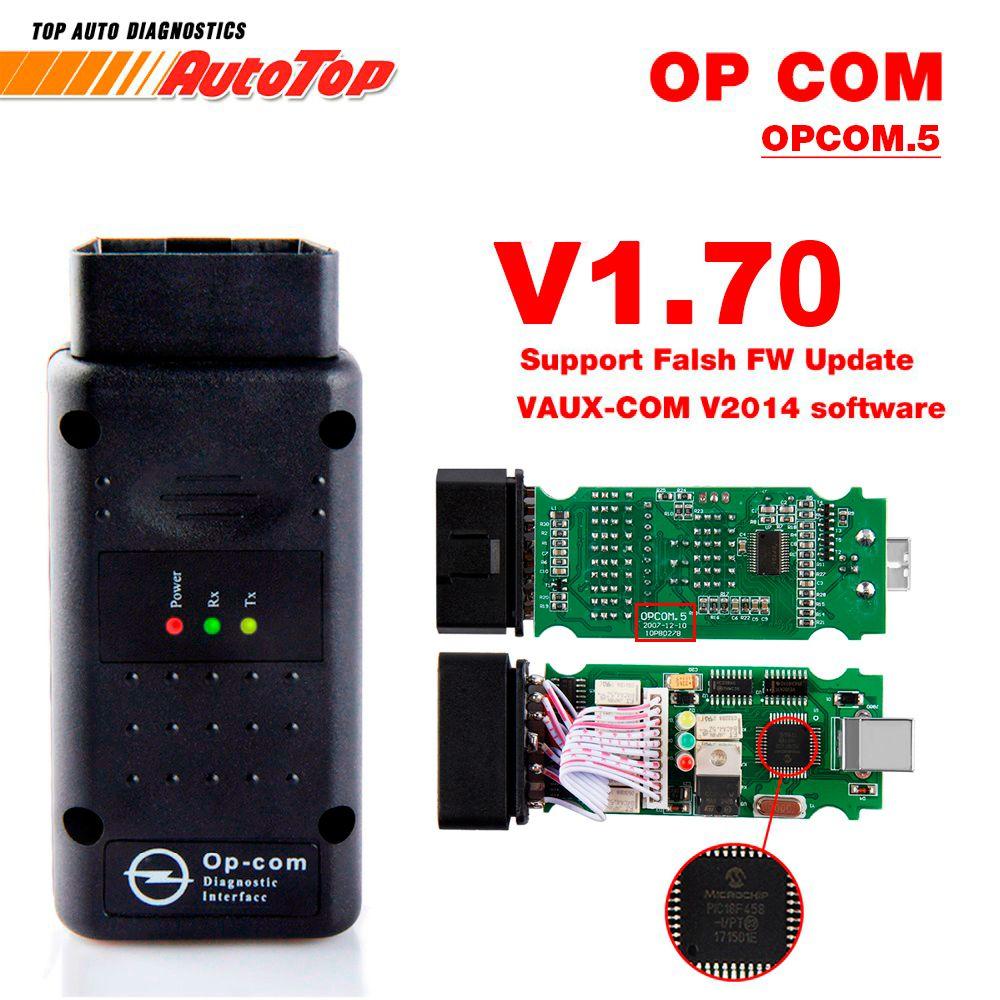 2018 OP COM for Opel V1.70 OBD2 OP-COM Car Diagnostic Scanner Real PIC18f458 OPCOM for Opel Car Diagnostic Tool Flash Firmware
