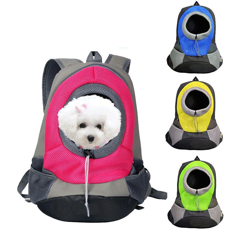 Новый Pet рюкзак собака Сумки собак Pet Carrier собака Передняя сумка щенок Портативный дорожная сумка сетки рюкзак голову двойная Сумка