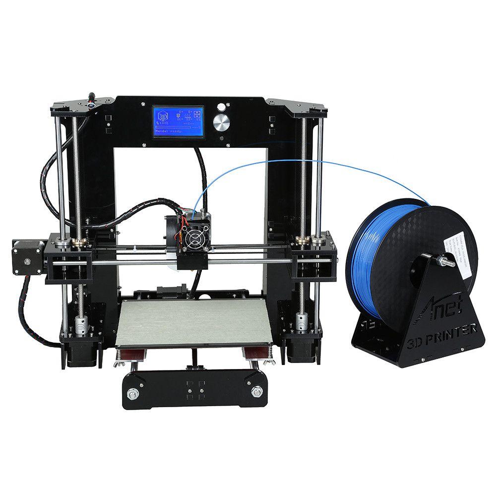 English Spain High Precision Reprap Prusa A6 A8 3D Printer Kit Easy Assemble i3 DIY 3D Printing Machine Filament Support MAC WIN