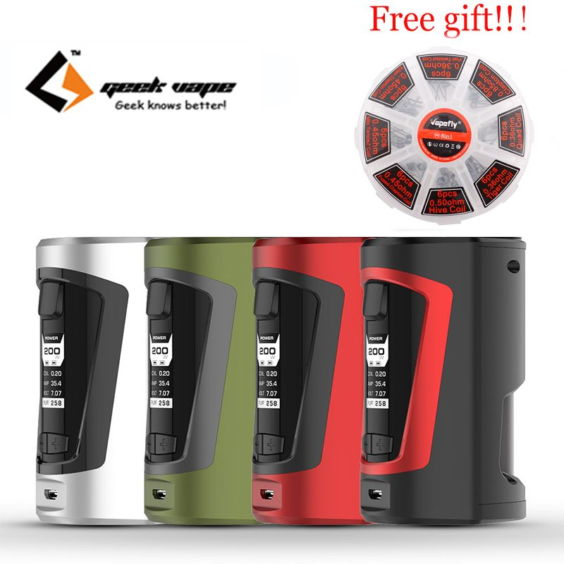 Freie geschenk original Geekvape GBOX Squonker box mod elektronische zigarette mod vape Für digiflavor Drop rda sirene rta vape kit
