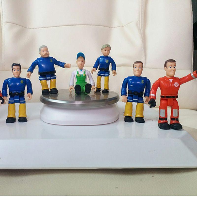 1pcs joint movable Fireman Sam Action PVC Figure Toys for kids