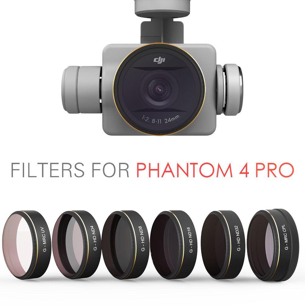 PGYTECH DJI phantom 4 Pro Zubehör Objektiv Filter UV ND4 8 16 32 CPL Filter Drone gimbal RC Quadcopter teile