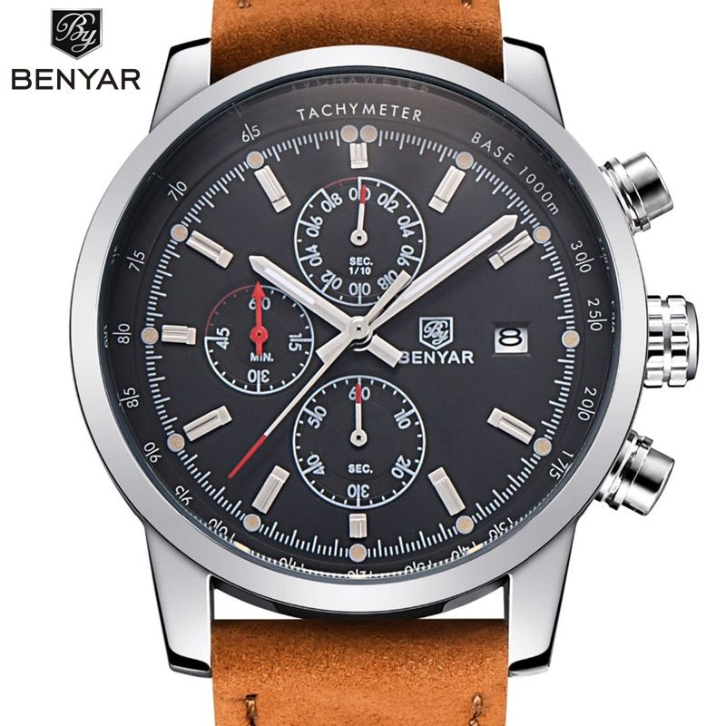BENYAR Fashion Chronograph Sport Mens Watches Top Brand Luxury Quartz Watch Reloj Hombre 2017 Clock Male hour relogio Masculino