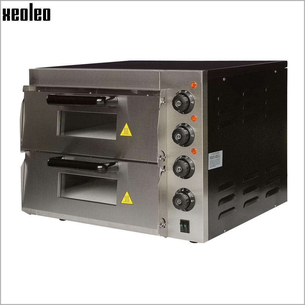 XEOLEO Kommerziellen Elektrische Pizza ofen Doppel schicht 16 zoll Pizza Backen maschine 3000 watt backofen Max 350 grad Horizontale ofen