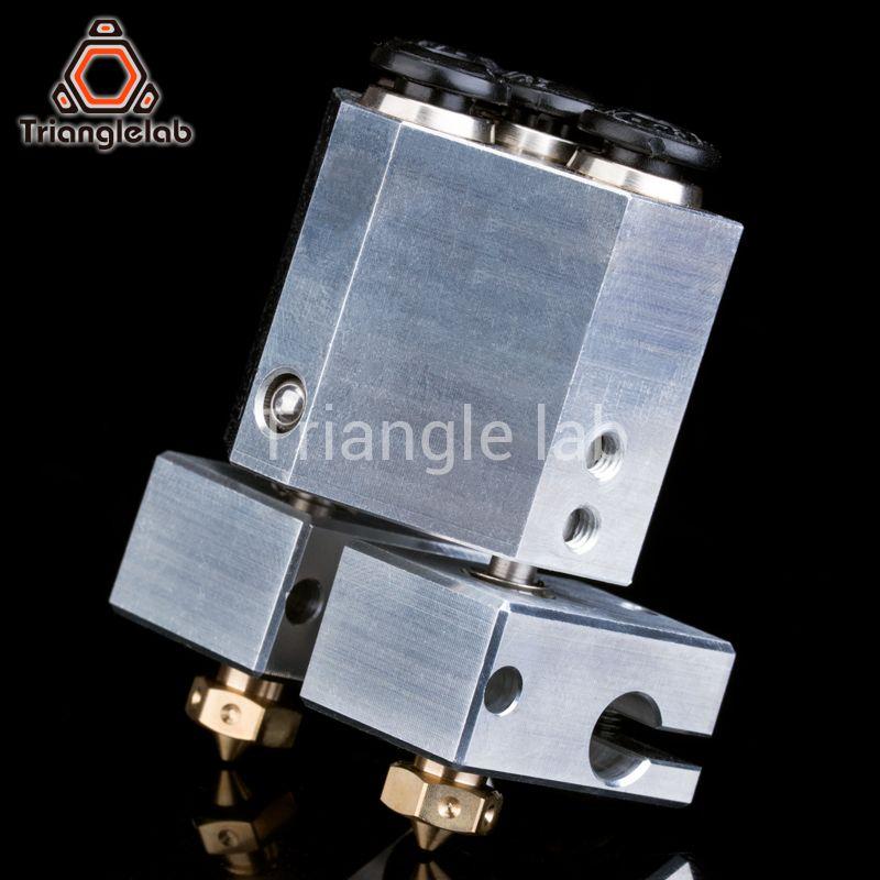 Trianglelab anpassen ihre dual extrusion + chimäre + wasser gekühlt für 3d drucker für e3d hotend titan extruder 3d touch düse