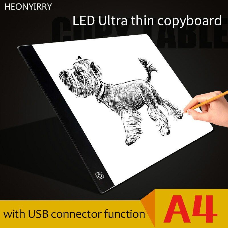 Tracing Light Box A4 Ultra-thin USB Power LED Artcraft <font><b>tracer</b></font> Light Pad LightBox for Artists Drawing Sketching Animation Board