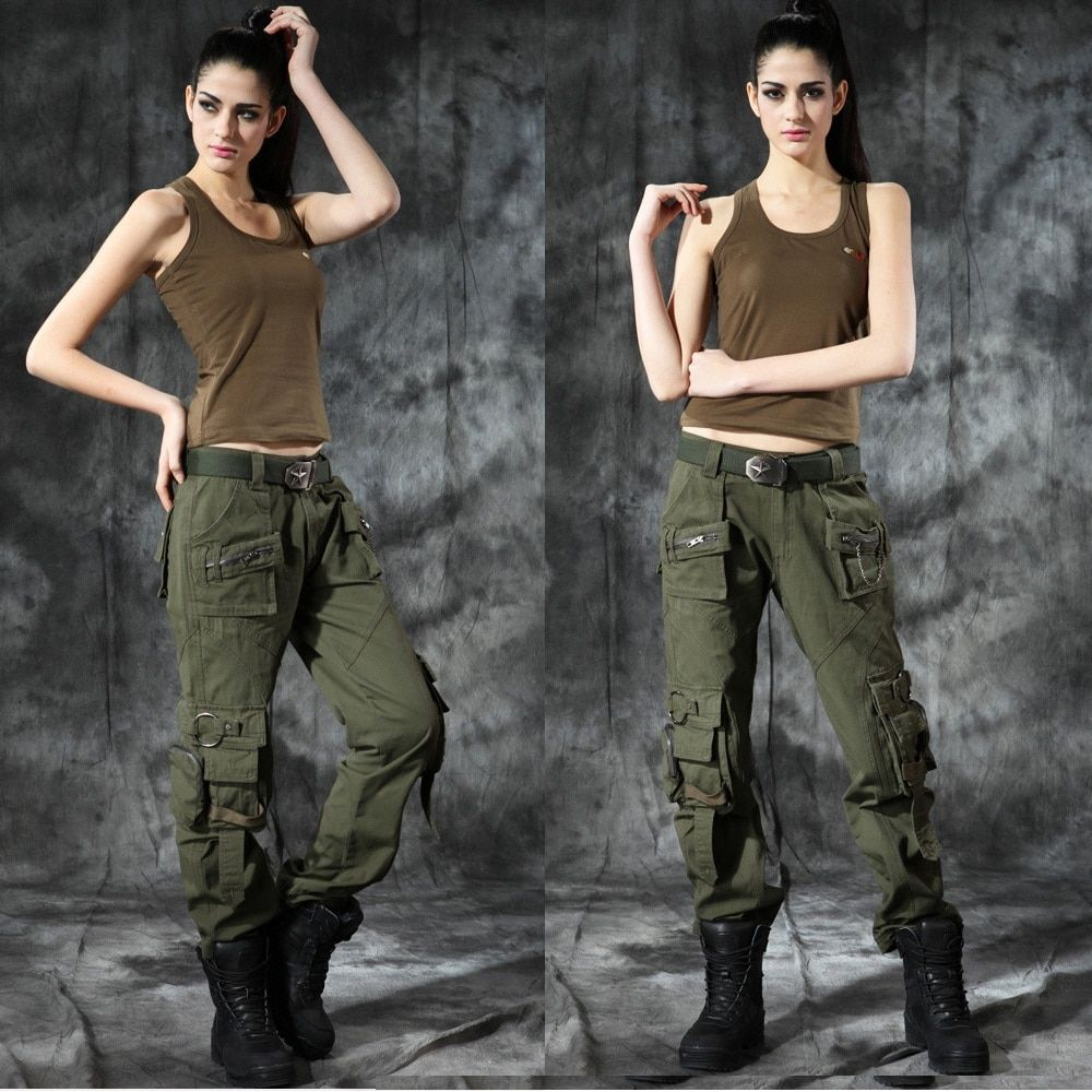 Men Women Couple Camouflage Hiking Pants Outdoor Military Tactical Pants Trousers Multi - pocket Large Size Climbing Trousers
