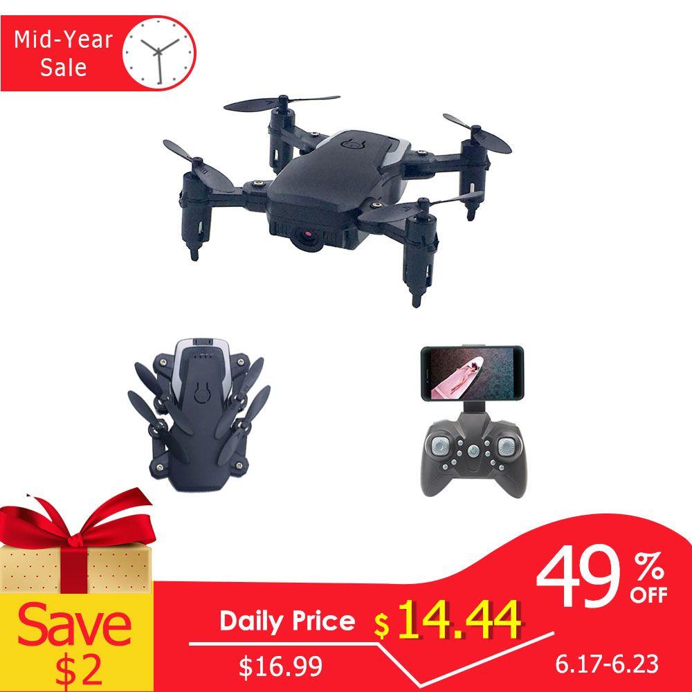 Mini Drone pliable avec quadricoptère RC avec caméra quadricoptère HD avec hélicoptère RC haute tenue avec jouets pour enfants sans tête