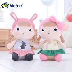 30 cm Metoo Asli adik indah mewah mainan boneka lucu kartun Boneka boneka hari anak gadis hadiah ulang tahun Natal