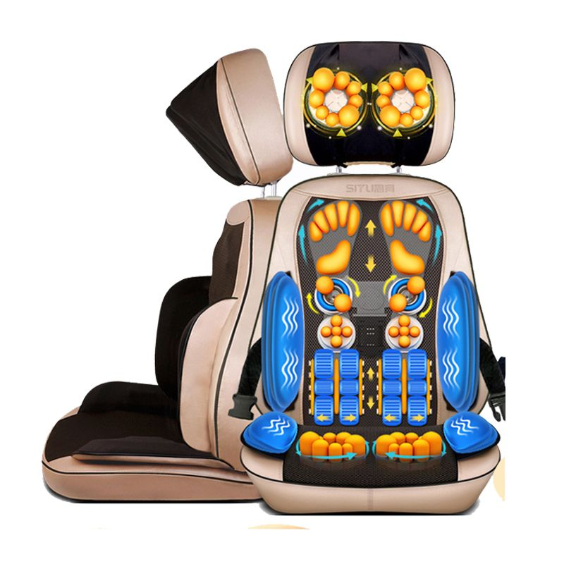 Electric Massage Chair Cushion Cervical Massage Device Neck Massage Pad Household Multifunctional Massage Pillow Full-body