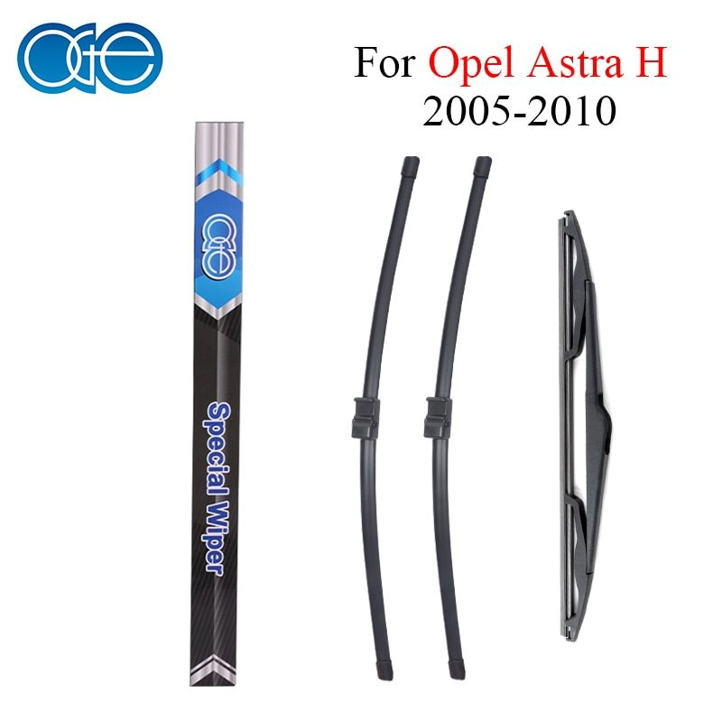 Oge Front And Rear Wiper Blades Fit For Opel Astra H 2005 2006 2007 2008 2009 2010 Rubber Windscreen Windshield Car Accessories