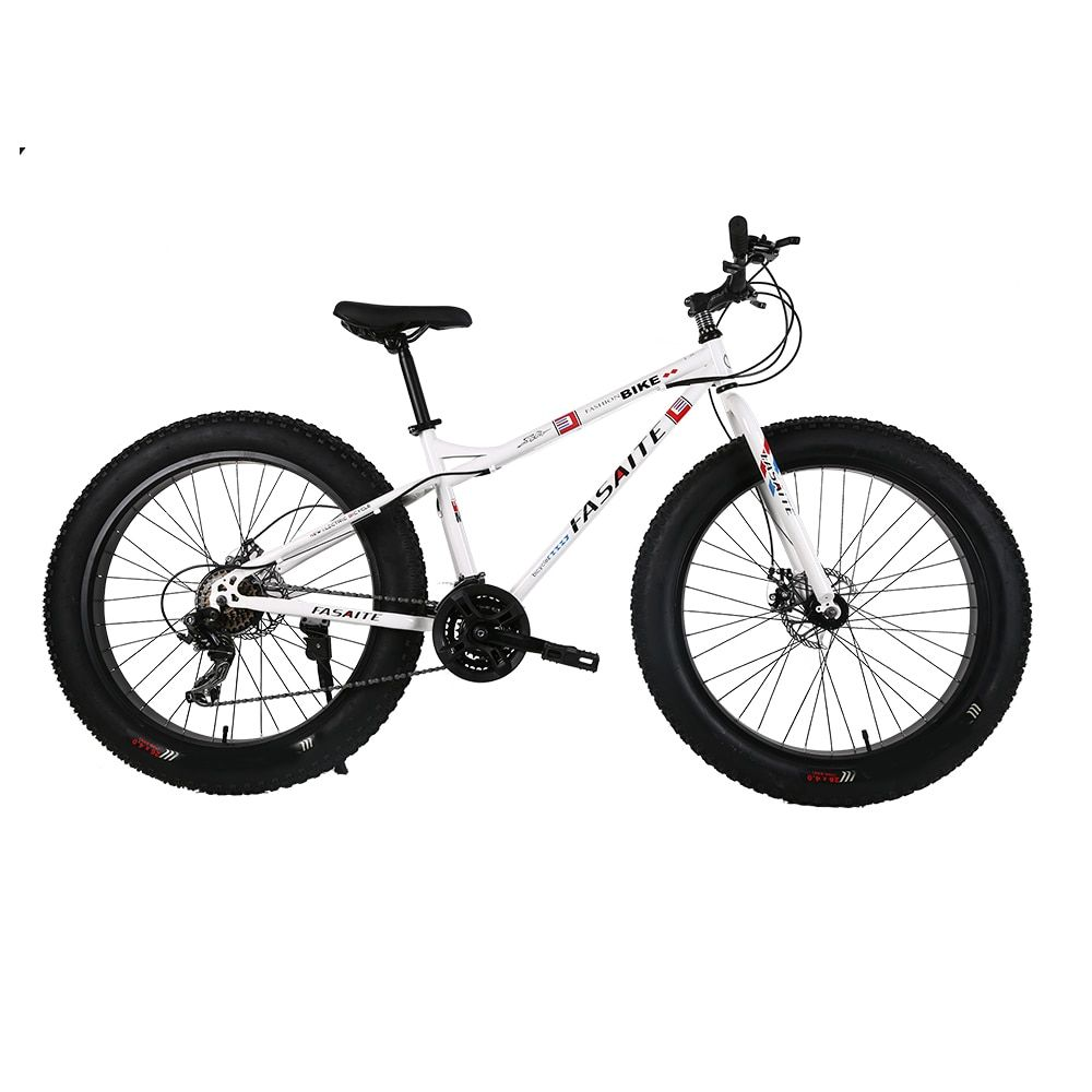 Russian warehouse and Wholesale 26 inch and 7 speed Thick wheel snow mountain bike Bicycle downhill Road