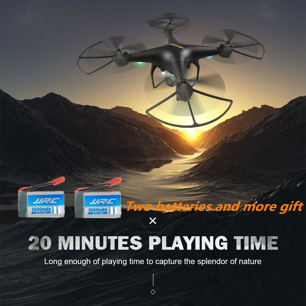JJRC H68 Quadrocopter Altitude Hold RC Drone with Camera 720P Headless RC Helicopter Quadcopter with Camera 20Mins Long Fly Time