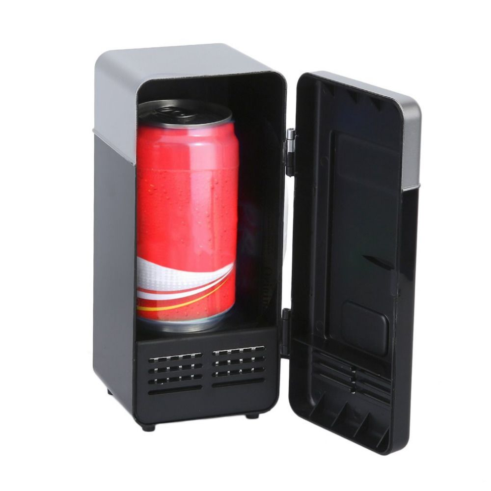 Black/Red ABS 194*90*90mm Energy Saving and Eco-Friendly 10W USB Car Portable Mini Drink Cooler Car Boat Travel Cosmetic Fridge