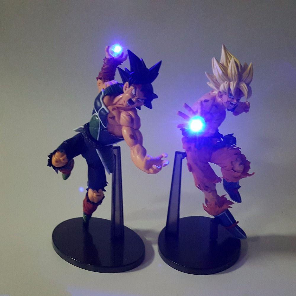 Dragon Ball Z figurines lumière LED fils Goku Burdock Kamehameha veilleuse 150mm Anime Dragon Ball Super Saiyan DBZ