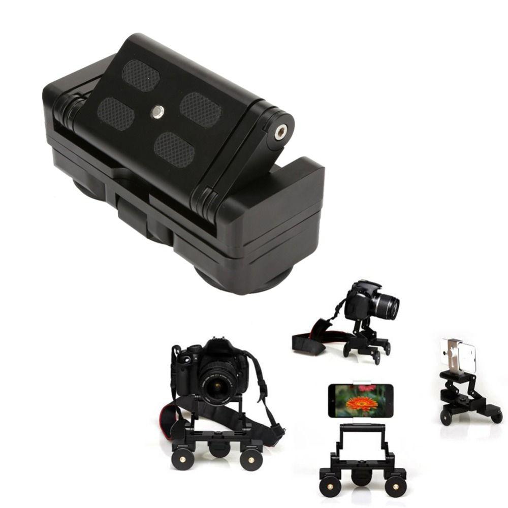 Desktop Camera Rail Car Table Dolly Car Video Slider Track For Canon 60D 650D 550D 1000D 5D3 Nikon Sony DSLR Cameras Gopro Phone