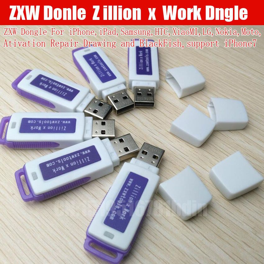 original ZXW dongle Zillion x Work / with software repairing drawings For Iphone Nokia Samsung HTC and so free ship