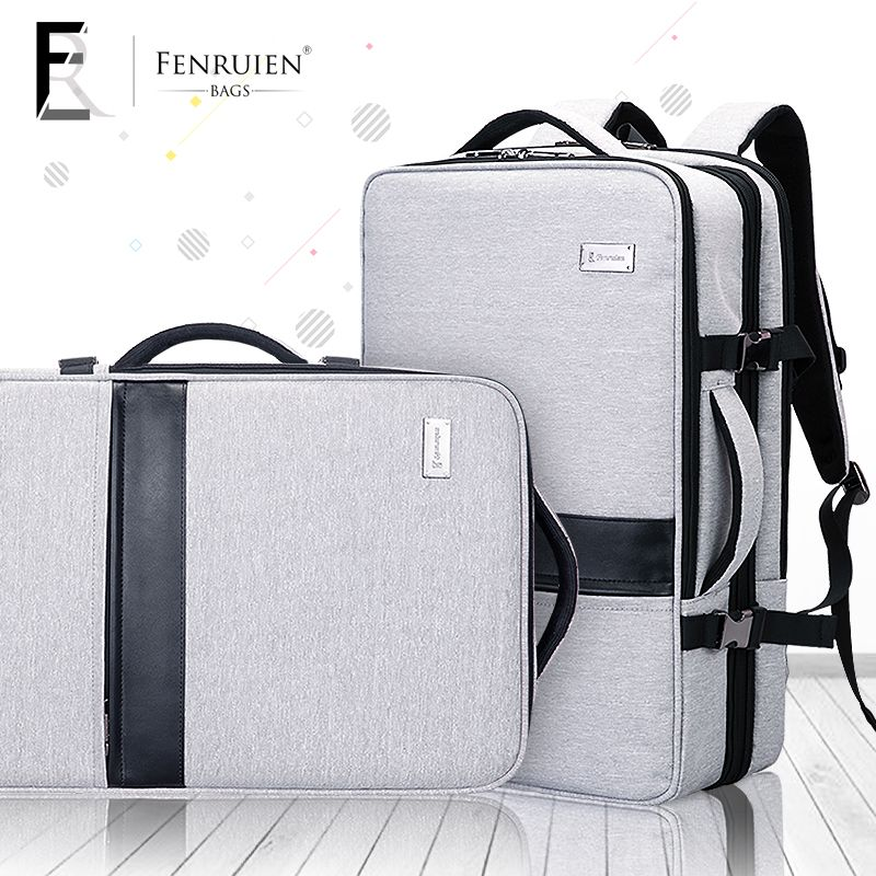 FRN Business Backpack Male 17 Inch Laptop Backpack Bag Large Mochila Tripple Use Unisex Waterproof Antitheft Travelling Backpack