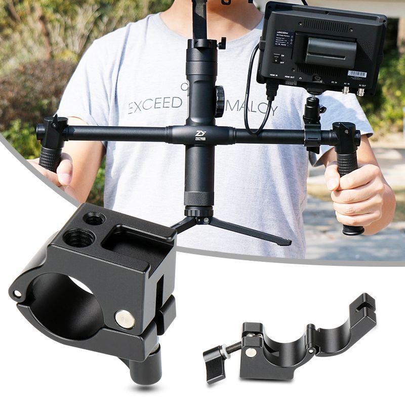 22mm/25mm Monitor Mount Rod Clamp Holder with Hot Shoe Adapter for DJI Ronin-M/<font><b>Zhiyun</b></font> Crane 2/Plus/Crane V2 Gimbal Stabilizer