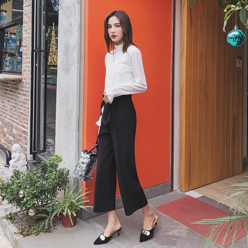 Mode Hosen neue breite lege Casual sommer gerade Hosen Frauen Lose Hosen weibliche kostenloser versand